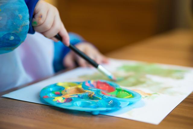 dětská paleta na barvy