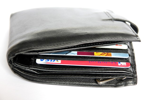 peněženka a platební karty