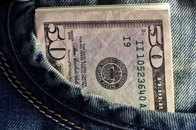 padesátky v kapse