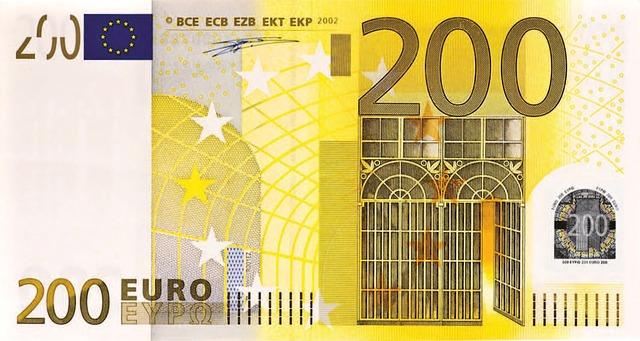 dvěstě eur