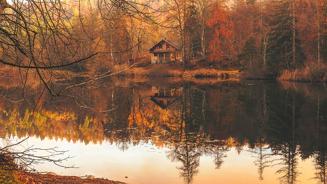 podzim u řeky
