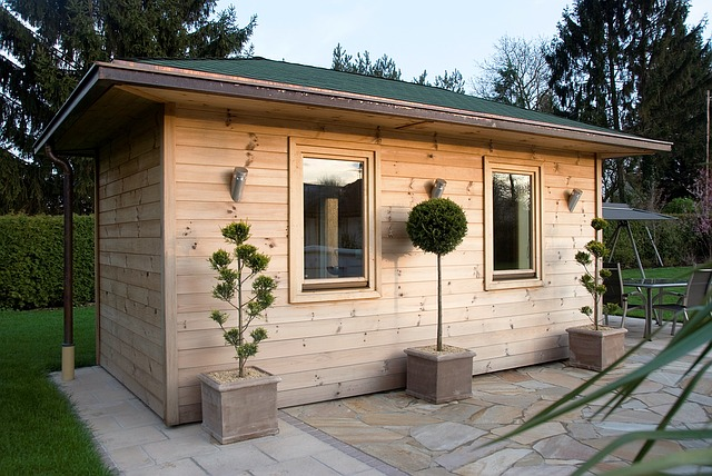 venkovní dřevěná sauna
